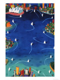 Ian Tremewen - Sydney Sails - Giclee Baskı