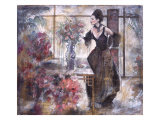 Untitled Woman in Parlor Print by Marta Gottfried