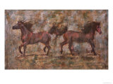2 Horses Giclee Print by Marta Gottfried