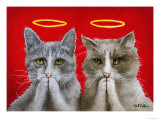 Holy Cats Giclee Print by Will Bullas