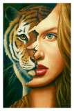 Tiger Within Posters af Jim Warren