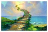 Escalier vers le paradis Posters par Jim Warren