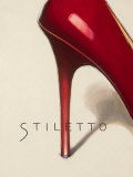 Red Stiletto Poster by Marco Fabiano