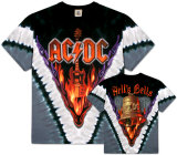 AC/DC- Hells Bells V-Dye (Front/Back) T-paita