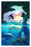 Seven Dolphins Prints by Jim Warren