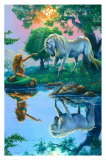 If I Were a Mermaid and You Were a Unicorn Prints by Jim Warren