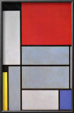 Tableau I Prints by Piet Mondrian