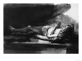 Reclining Figure in Prayer, British Museum, London Giclee Print by Rembrandt van Rijn 