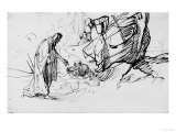 Christ Saving a Shipwrecked Man, British Museum, London Premium Giclee Print by  Rembrandt van Rijn
