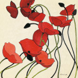 Poppies and Cream II Affiches par Shirley Novak