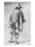 Male Figure Seen from Behind, Royal Library, Royal Palace, Turin Giclee Print by Gerard Terborch