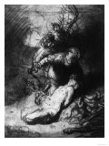 The Sacrifice of Isaac, British Museum, London Premium Giclee Print by  Rembrandt van Rijn