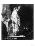 Female Nude Seen from the Back, British Museum, London Giclee Print by Rembrandt van Rijn 