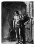Male Nude, British Museum, London Giclee Print by Rembrandt van Rijn 