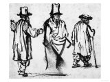 Three Men, British Museum, London Giclee Print by Rembrandt van Rijn 