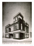 Drawing by the Architect Quirino De Giorgio of a Study for a Country Residence Giclee Print by Quirino De Giorgio
