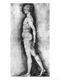 Study of Male Nude Seen in Profile, British Museum, London Giclee Print by Albrecht Dürer