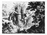 Nymph Chased by a Satyr, Drawing, Royal Library, Turin Giclee Print by Frans Van Mieris