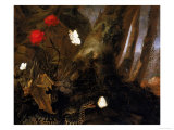 Underbrush with Animals, Uffizi Gallery, Florence Giclee Print by Otto Marseus Van Schrieck
