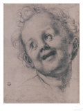 Face of the Baby Jesus for the Pucci Altarpiece, in the Uffizi Gallery Giclee Print by Jacopo da Carucci Pontormo