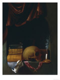 Still Life with Skull, Palatine Gallery, Florence Giclee Print by  Van Daellen