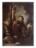 St. Francis, Conserved at the Galleria Estense in Modena Giclee Print by Bernardo Strozzi