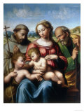 Holy Family with St. Francis and Young St. John, Conserved at the Galleria Estense in Modena Giclee Print by  Innocenzo da Imola