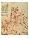 Study of the Human Features and a Knight, Galleries of the Academy, Venice Premium Giclee Print by  Leonardo da Vinci