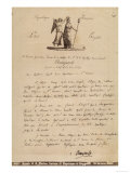Letter Sent by Napoleon Bonaparte to the Regent of the Republic of San Marino, San Marino Giclee Print