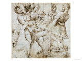 Preparatory Drawing for the Baglioni Altarpiece Reproduction proc&#233;d&#233; gicl&#233;e par Raphael 