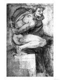 Study of a Male Nude with Bent Leg, Gabinetto Dei Disegni E Delle Stampe, Uffizi Gallery, Florence Giclee Print by  Michelangelo Buonarroti