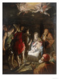 Adoration of the Shepherds, Conserved at the Galleria Estense in Modena Reproduction procédé giclée par Hans von Aachen