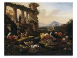 Pastoral Scene, Palatine Gallery, Palazzo Pitti, Florence Giclee Print by Johann Ross