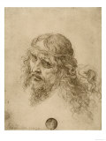 Head of the Redeemer, Drawing, Galleries of the Academy, Venice Giclee Print by  Leonardo da Vinci