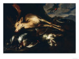 Game with Deer, Goat and Birds, Palatine Gallery, Florence Giclee Print