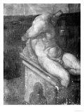 Study of Male Torso, Gabinetto Dei Disegni E Delle Stampe, Uffizi Gallery, Florence Giclee Print by  Michelangelo Buonarroti