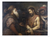 Christ Before Caiaphas, Conserved at the Galleria Estense in Modena Giclee Print by Niccolo Frangipane