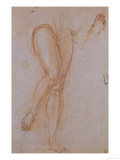 Study of Legs for St. Michael the Archangel Displayed in the Uffizi Gallery Giclee Print by Jacopo da Carucci Pontormo