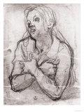 Study of the Madonna, Gabinetto Dei Disegni E Delle Stampe, Uffizi Gallery, Florence Giclée-tryk af Jacopo da Carucci Pontormo