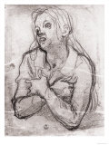 Study of the Madonna, Gabinetto Dei Disegni E Delle Stampe, Uffizi Gallery, Florence Giclee Print by Jacopo da Carucci Pontormo