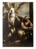 Angel Appearing to Elijah, Conserved at the Galleria Estense in Modena Giclee Print by Giovanni Donducci