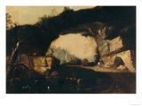 Landscape with Arch, Palatine Gallery, Palazzo Pitti, Florence Gicle-tryk af Marco Ricci