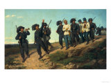 Guards Leading Prisioners, Gallery of Modern Art, Palazzo Pitti, Florence Giclee Print by Silvestro Lega