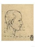 Study of the Proportions of a Human Face, Drawing, Royal Library, Windsor Giclée-Druck von  Leonardo da Vinci