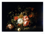 Basket of Flowers, Uffizi Gallery, Florence Giclee Print by Rachel Ruysch