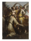 Abraham and the Three Angels, Conserved at the Galleria Estense in Modena Giclée-tryk af Giovanni Donducci