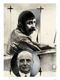 Double Portrait of the Aviator Louis Bleriot Giclee Print