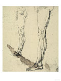 Study of Legs, Drawing, Royal Library, Windsor Premium Giclee Print by  Leonardo da Vinci