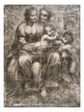 The Virgin and Child with Saint Anne and the Young Saint John the Baptist Giclee Print by Leonardo da Vinci 