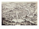 Map of the City of Rome Giclee Print